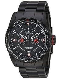 Invicta Men's 'Aviator' Quartz Stainless Steel Casual Watch, Color:Black (Model: 22985)