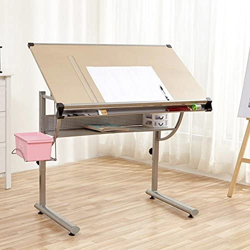 Bakaji - Escritorio, mesa de trabajo, mesa para dibujo técnico ...