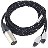 ZY HiFi Cable Upgrade Version HD580/HD600/HD650 Balance line (4-pin XLR Male) OCC ZY-002 2.5M