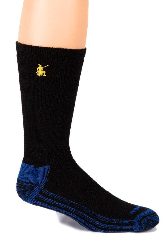 Warrior Alpaca Socks - Boy's High Performance Alpaca Socks Black/Blue L