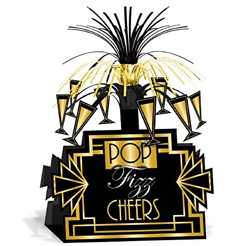 Beistle Club Pack Roaring 20's Art Deco Printed Table Centerpieces, Box of 12 Centerpieces -