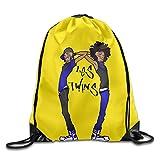 MYKKI Les Twins Dancers Band New Design Drawstring Bags