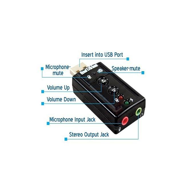 Amazon.com: (2 unidades) 7.1 canales de sonido USB Tarjeta ...