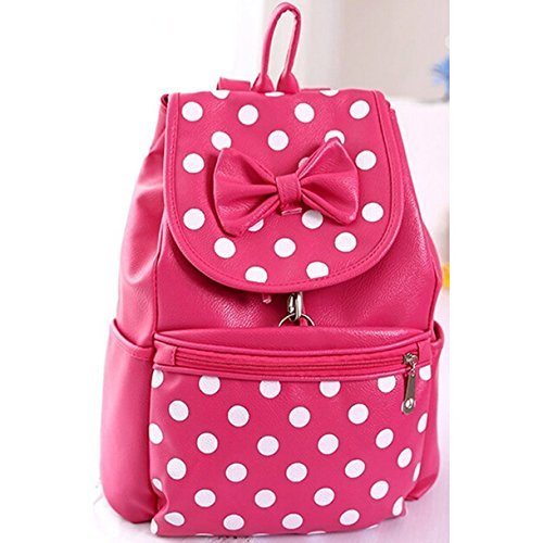 55eaddb494c L-luck 2015 New Style PU Korean Fashion Casual College Wind Bow Polka Dot Shoulder  Bag/ Backpack Schoolbag for Students School Girls (Purple) - Buy Online ...