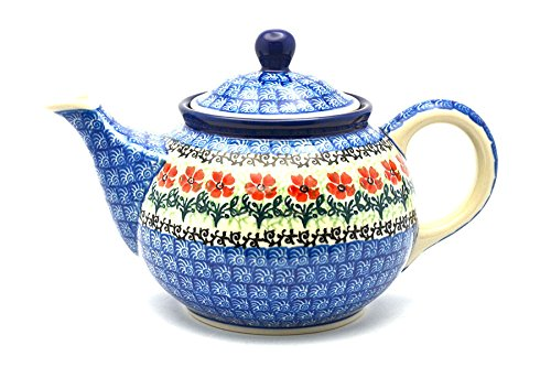 Polish Pottery Teapot - 3/4 qt. - Maraschino