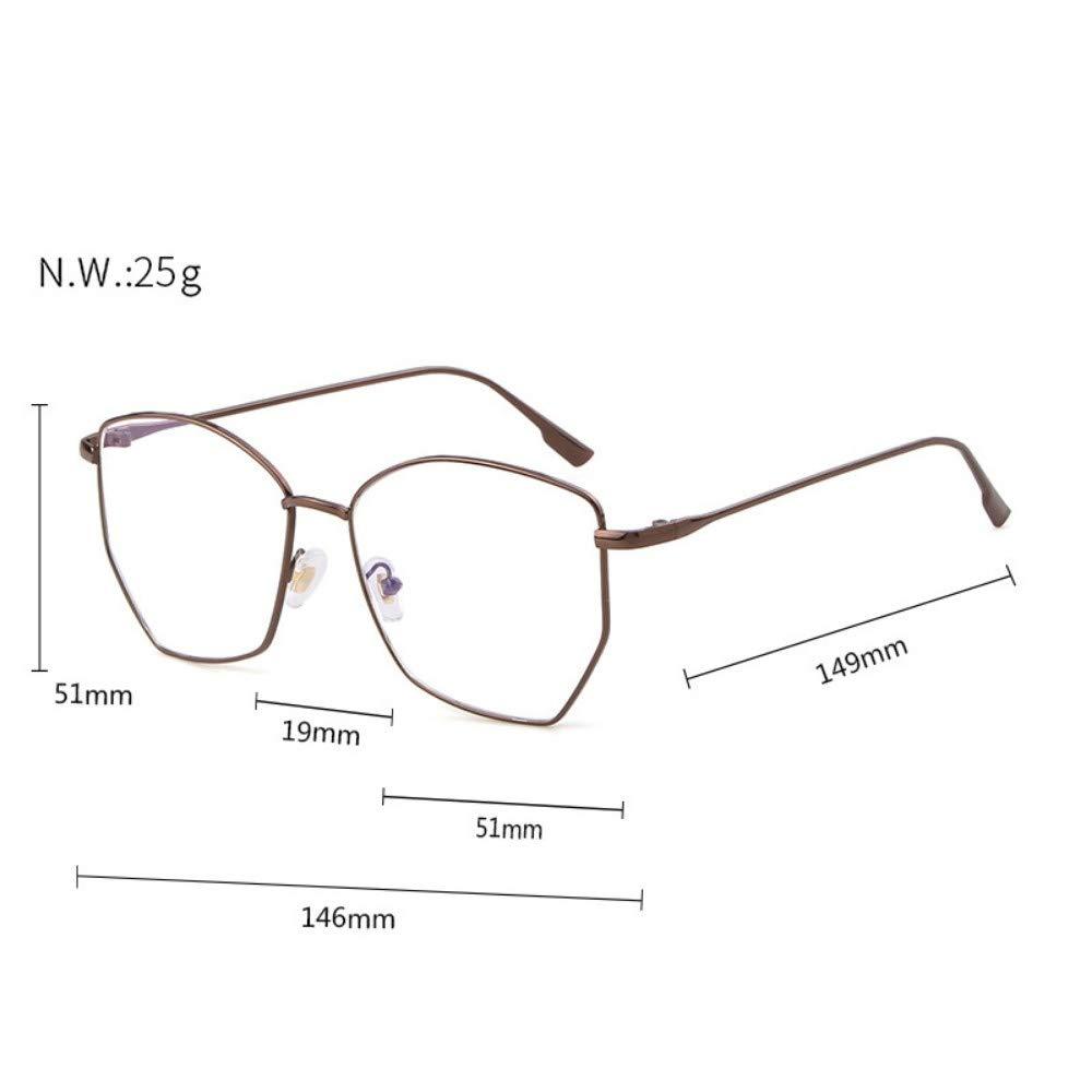 Anti-Blu-Ray Glasses Retro No Degree Flat Mirror Round Frame Personality Trend