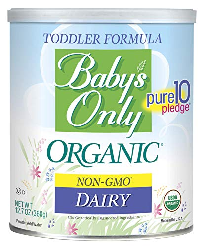 Baby's Only Dairy Toddler Formula - Non GMO, USDA Organic, Clean Label Project Verified, 12.7 oz...