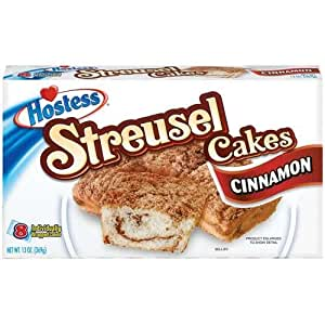 hostess coffee cake hostess coffee cakes cinnamon streusel 11 1 oz 8 4852