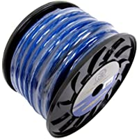 Bullz Audio BPE0.50BL 1/0 Gauge 50 FT Twisted Pro Power Ground Wire Cable | Blue