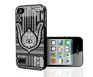 Black and White Evil Eye Hand of Mary Hard Snap on Phone Case (iPhone 6 Plus 5.5)