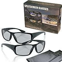 "2 Player split screen polarized gaming glasses - black - compatible with ""Dual Play"" by LG, ""Full Screen Gaming"" (passive version) by Philips and ""SimulView"" (passive version) by Sony- same technique, but no 3D glasses - with pouch and cleaning cloth"