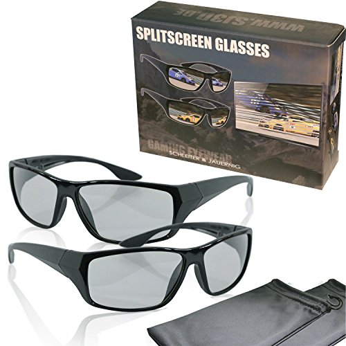 Player screen polarized gaming glasses product image
