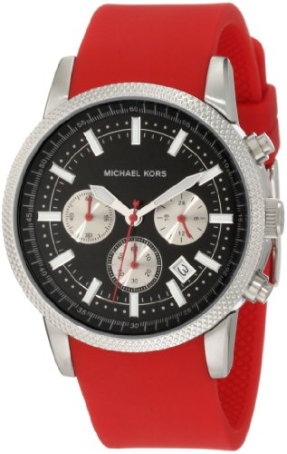 Michael Kors Scout Red Chronograph Mens Watch MK8239