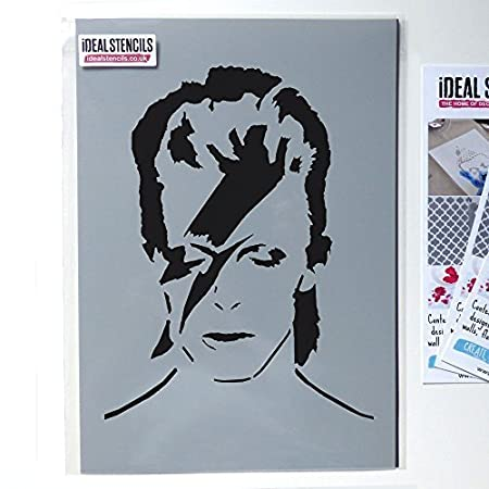 Ideal Stencils David Bowie stencil, paint walls fabric and furniture ...