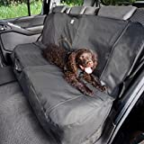 Kurgo Waterproof Extended Width Dog Car Bench Seat Cover for Trucks and SUVs, Charcoal Grey