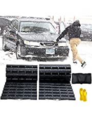 Tire Traction Mat, Portable Emergency Devices for Snow, Ice, Mud, and Sand Used to Car, Truck, Van or Fleet Vehicle (2pcs*39in)