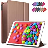 iPad Air Case, ROARTZ Rose Gold Slim Fit Smart Rubber Coated Folio Case Hard Shell Cover Light-Weight Auto Wake/Sleep For Apple iPad Air 1st generation Model A1474/A1475/A1476 Retina Display