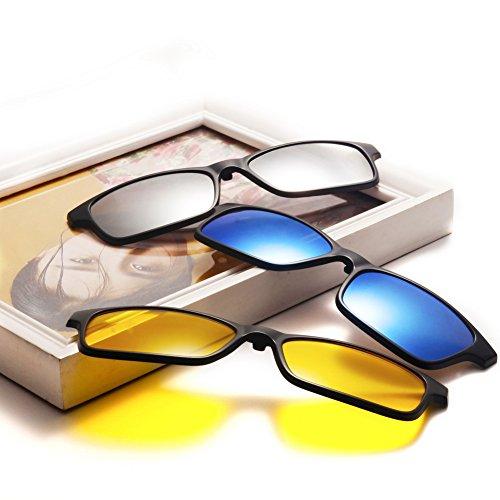 sol UV400 de 2252a 5Pcs magnético Hombres de protección sol TR90 Lentes de Night plástico Unisex Polarizado Clip Gafas gafas Marco Mujeres TIMWILL on Driving fUq4x81g8w