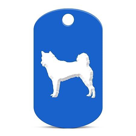 Amazon.com: Shiba Inu llavero Gi etiqueta de perro grabado ...