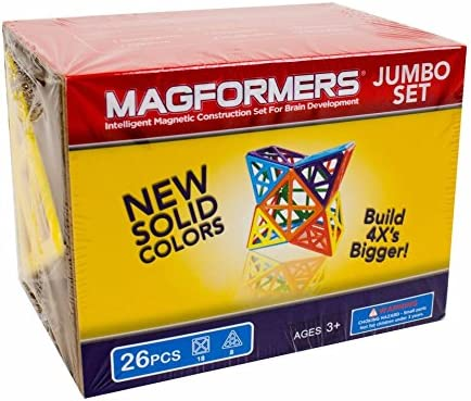Large Magnetic    Building      Blocks Magnetic    Construction  STEM Toy Set 32993 26-pieces Magformers Jumbo Set Educational  Magnetic    Tiles Kit