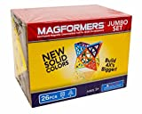 super magformers - Magformers Jumbo Set (26-pieces) Large Magnetic Building Blocks, Educational Magnetic Tiles Kit, Magnetic Construction STEM Toy Set