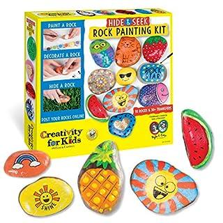 Creativity for Kids Hide & Seek Rock Painting Kit - Arts & Crafts For Kids - Includes Rocks & Waterproof Paint
