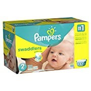 Pampers Swaddlers Disposable Diapers Size 2, 132 Count, GIANT