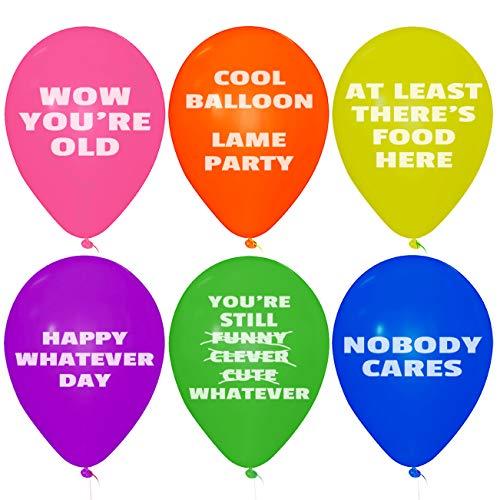 Funny Party Birthday Abusive Balloons Mean 24 Pcs Jumbo