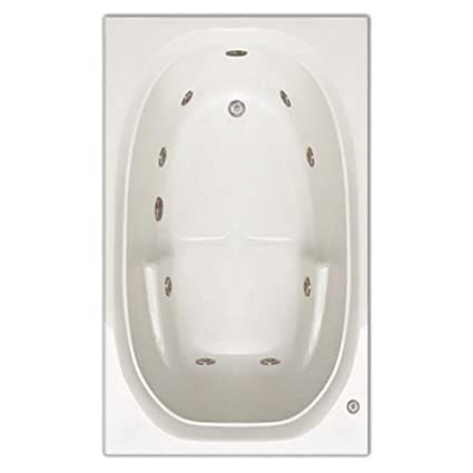Signature Bath LPI221 W LD Drop In Whirlpool Bathtub With Stainless Jets