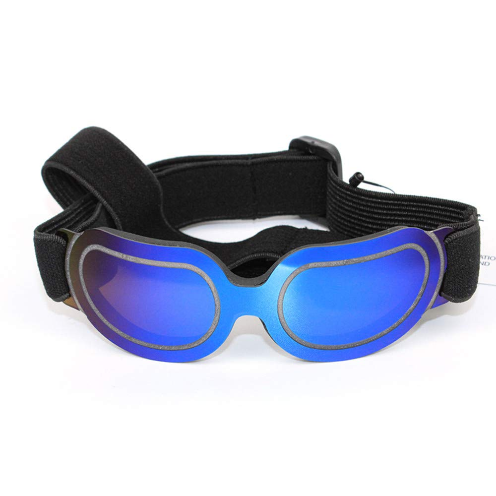 Pet Dog Glasses PC Sunglasses Sunglasses Lightweight Wear-Resistant Impact High Transmittance Windproof Adjustable Four Color Optional,Blue by DJX