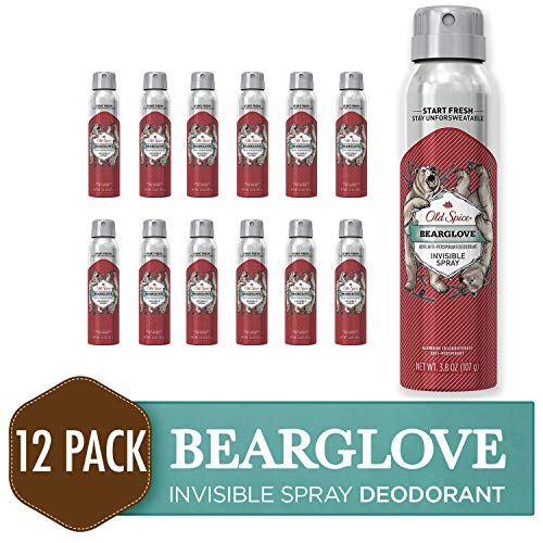 (Old Spice Antiperspirant and Deodorant for Men, Invisible Spray, Bearglove, Apple, Citrus, & Spice Scent, 3.8 Oz (Pack of 12))