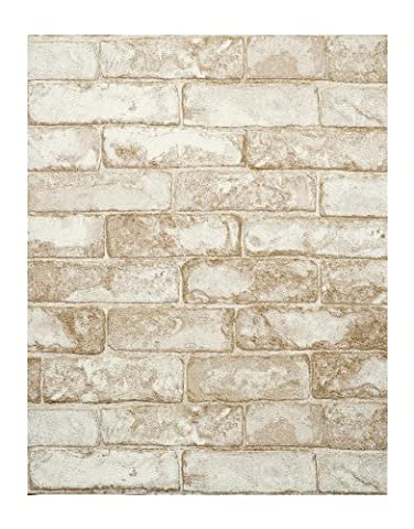 York Wallcoverings RN1030 Modern Rustic Rustic Brick Wallpaper (Fireplace Wallpaper)