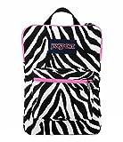 JanSport Digital SuperBreak Sleeve Backpack (Black / White Fluorescent Pink Miss Zebra)