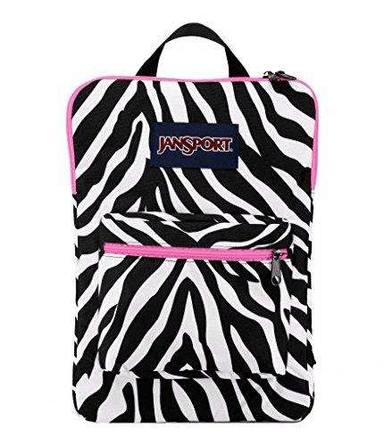 Pink Miss Zebra - JanSport Digital SuperBreak Sleeve Backpack (Black / White Fluorescent Pink Miss Zebra)