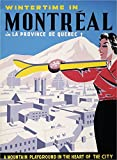 Montreal Canada Quebec Winter Ski Canadian Travel Advertisement Art Poster