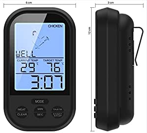 Diamond Cook - Digital Oven Thermometer With Wireless Function - Can Be Used In The – Oven – Grill – Smoke – BBQ - Cooker. Save Your Precious Time