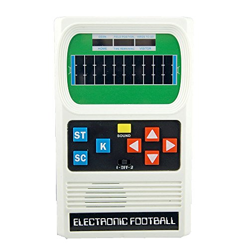 Classic Electronic Football Hand Held Game With Updated Grap