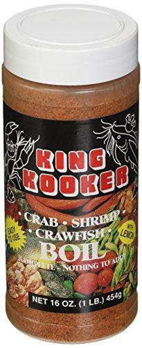 King Kooker 00037 16-Ounce Crab, Shrimp, Crawfish Boil (Boiled Shrimp)
