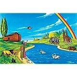 600 Piece LARGE Basic Bible Felt Figures Set for Flannel Board & Manual + Free Background
