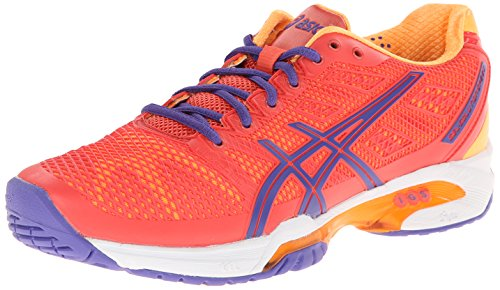 ASICS Women's Gel-Solution Speed 2 Clay Tennis Shoe,Hot Coral/Lavender/Nectarine,7 D US
