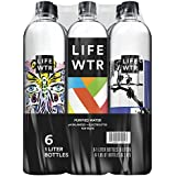 LIFEWTR, Premium Purified Water, pH Balanced with Electrolytes For Taste, 1 Liter bottles (6 Bottles) (Packaging May Vary)
