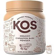 KOS Organic Cinnamon Bark Powder | Freshly Ground, True Ceylon Cinnamon Bark Powder | USDA Organic, Gluten Free, Promotes Heart Health & Healthy Blood Sugar Levels, Plant Based Ingredient, 388.5g, 111