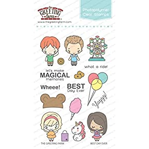 Amazon the greeting farm clear stamp set best day ever the greeting farm clear stamp set best day ever m4hsunfo