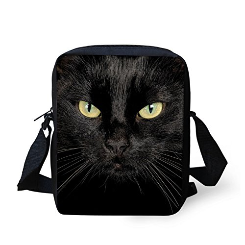 (Bigcardesigns Black Cat Women Messenger Sling Crossbody Bag)