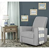 Evolur Raleigh Basic Glider |Recliner| Rocker, Grey