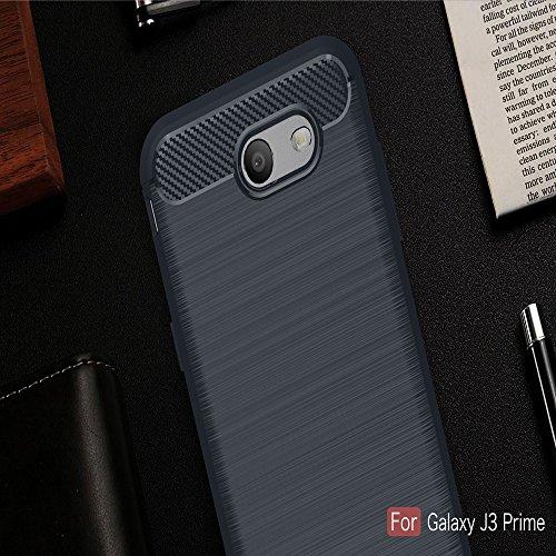 XHD-Casos de teléfonos móviles TPU Armor ShockProof cepilló la caja del apretón del silicón para Samsung Galaxy J3 2017 / J3 Prime / J3 Emerge / J327P ( Color : Red ) Navy