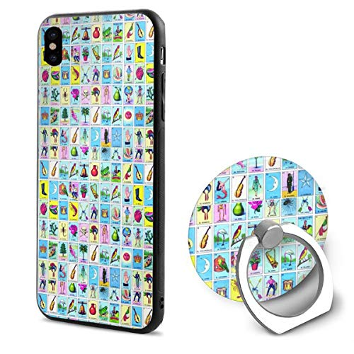 Loteria TPU Case Ring Bracket Compatible iPhone X Cover 5.8 Inch