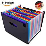 24 Pockets Expanding File Folder Organizer with A4