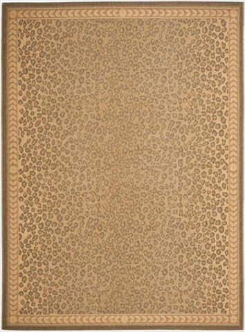 Safavieh Courtyard Collection CY6100-39 Natural and Gold Indoor/ Outdoor Area Rug (6'7
