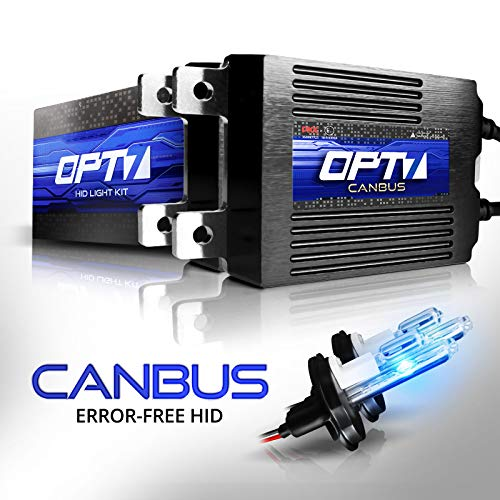 OPT7 Boltzen AC CANbus 9007 Hi-Lo HID Kit - 5X Brighter - 6X Longer Life - All Bulb Sizes and Colors - 2 Yr Warranty [10000K Deep Blue Xenon Light]